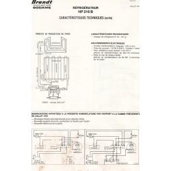 fiche technique HP 216 B