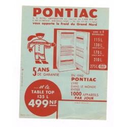 pub réfrigérateur Pontiac 1962