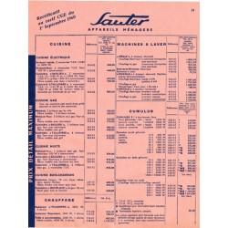tarif sauter 1960