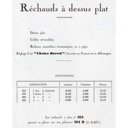 réchauds rectangulaires  1931