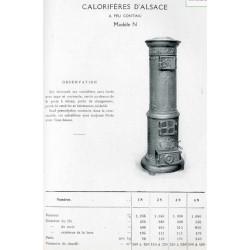 calorifère d'Alsace N 1929