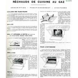 notice Réchaud four de cuisine à gaz