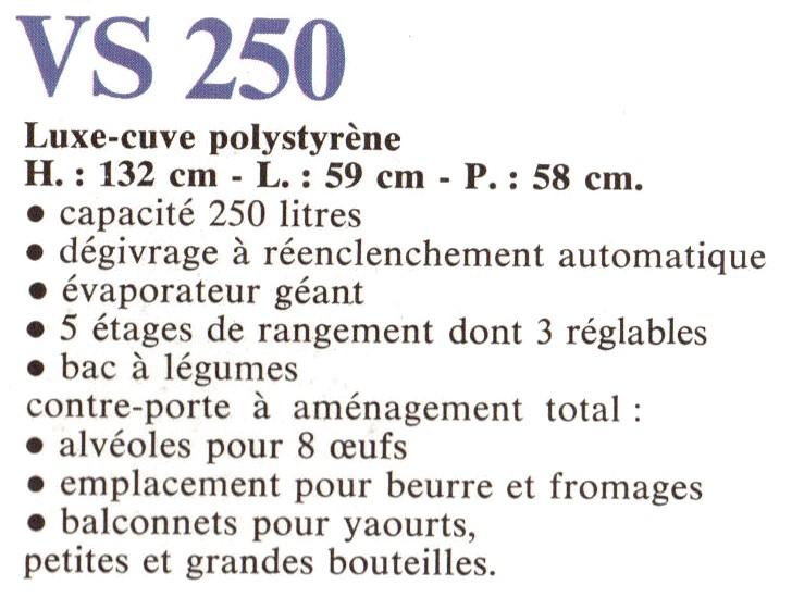 descriptif vs 250