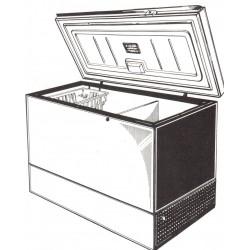 Congélateur coffre 500 L frigeavia