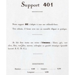 support réchaud 401 1933