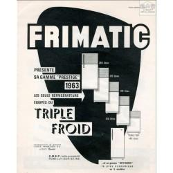 gamme réfrigérateur Frimatic 1963