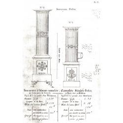 fourneaux à colonne cannelée